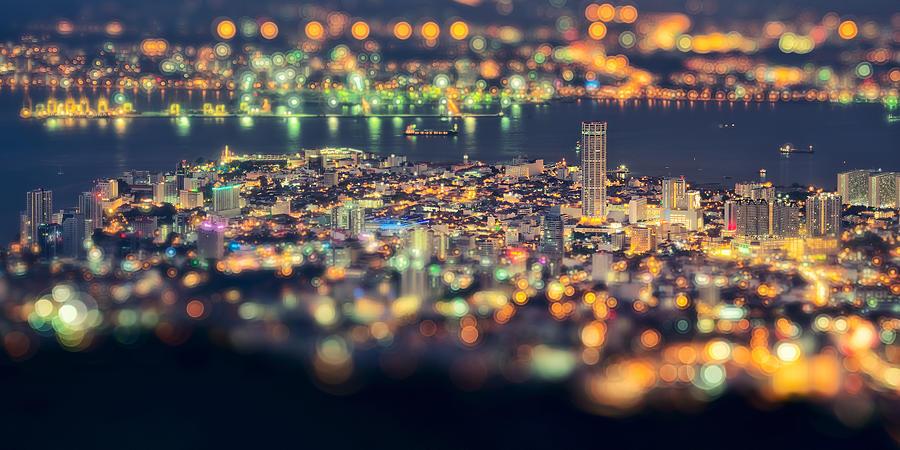 Night Photograph - Malaysia Penang Hill At Night by Jordan Lye
