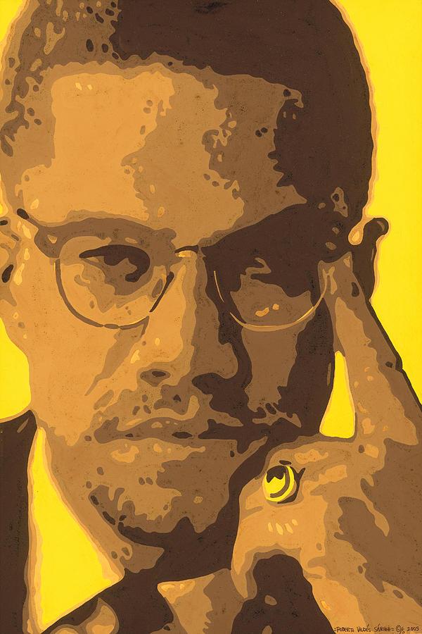 Malcolm Painting - Malcolm El Afroxicano by Roberto Valdes Sanchez