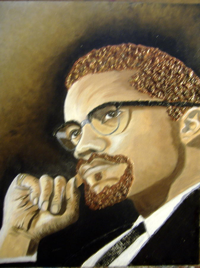Malcolm X Painting By Keenya Woods