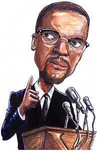 Malcolm X Digital Art - Malcolm X by Kerry Johnson