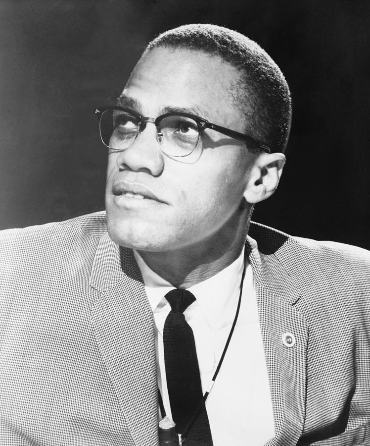 History Photograph - Malcolm X, Militant Black Muslim Civil by Everett