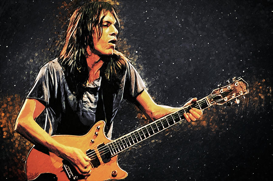 Malcolm Young Digital Art - Malcolm Young by Zapista Zapista