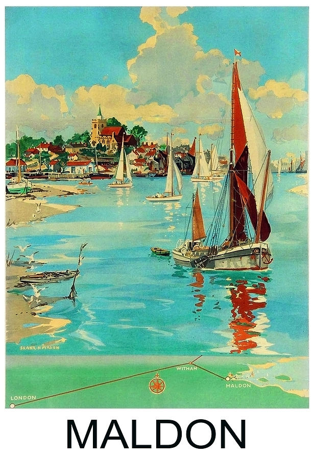 Maldon Painting - Maldon, England, Sailing Boats by Long Shot