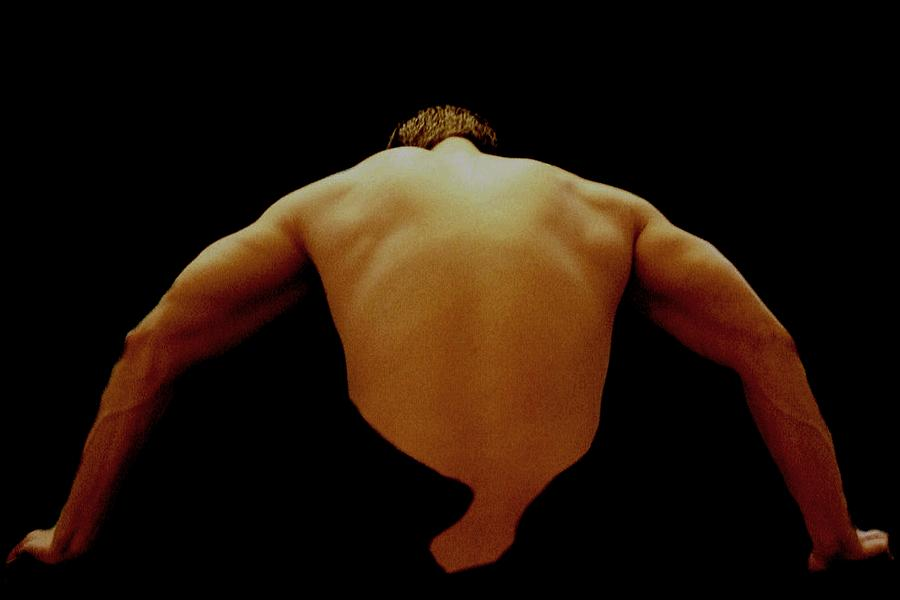 Male Photograph - Male Back Study - 8x12 by B Nelson