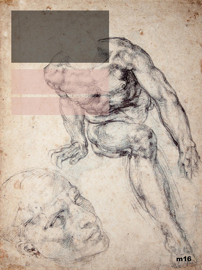 Male Nude 1 Revisited by D A Metrov
