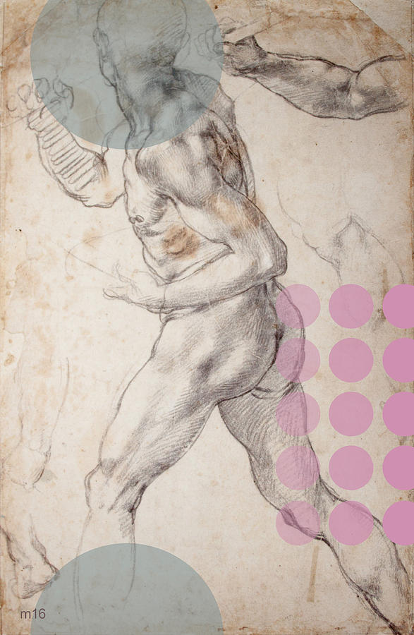 Male Nude 2 Revisited by D A Metrov