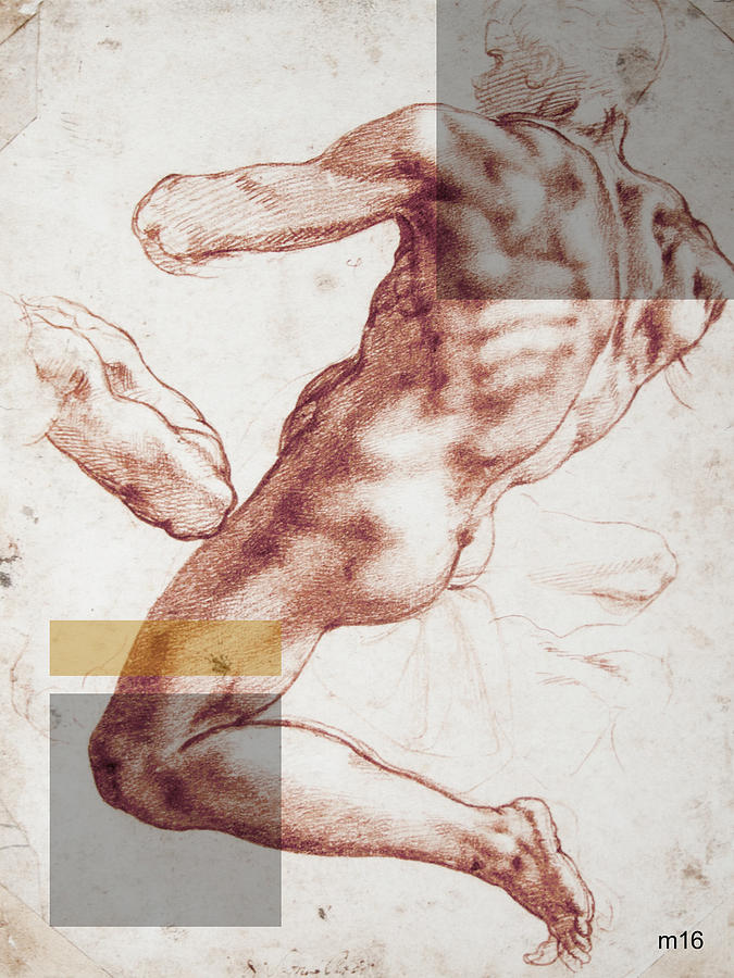 Male Nude 3 Revisited by D A Metrov