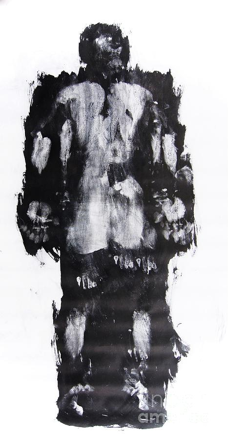 Male Mixed Media - Male Nude Back by Erwin Bruegger