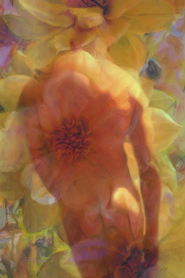 Male Flowers Painting by Damiano Navanzati