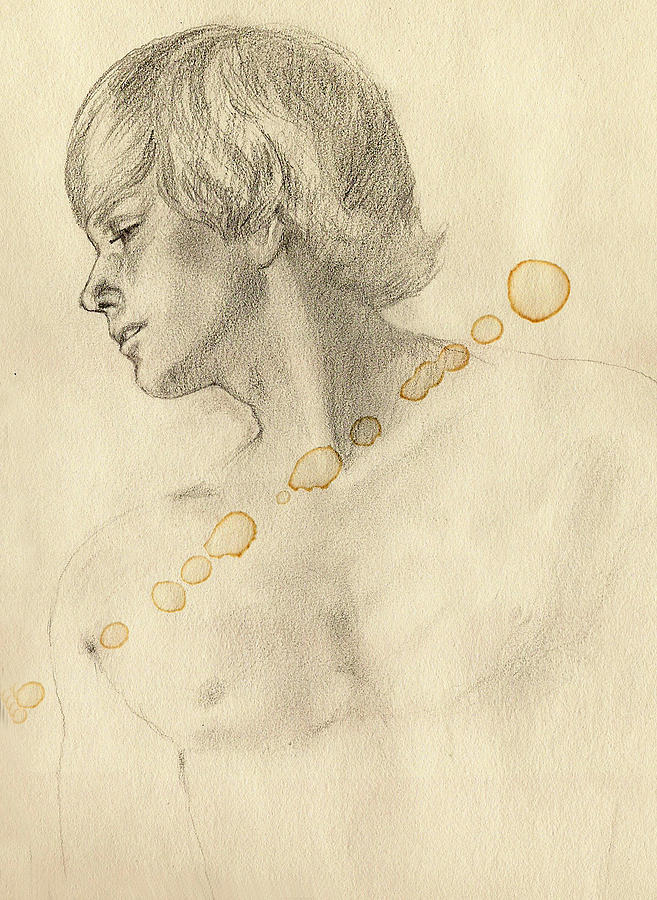 Male Nude Drawing by Ole Nielson