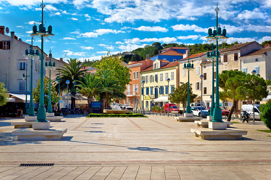 Mali Losinj Square Colorful Architecture Photograph