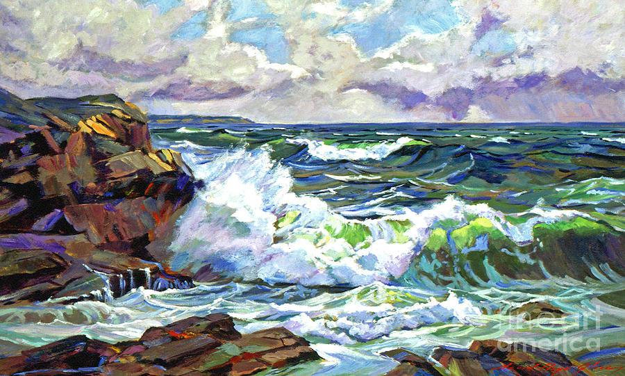Ocean Painting - Malibu Cove by David Lloyd Glover