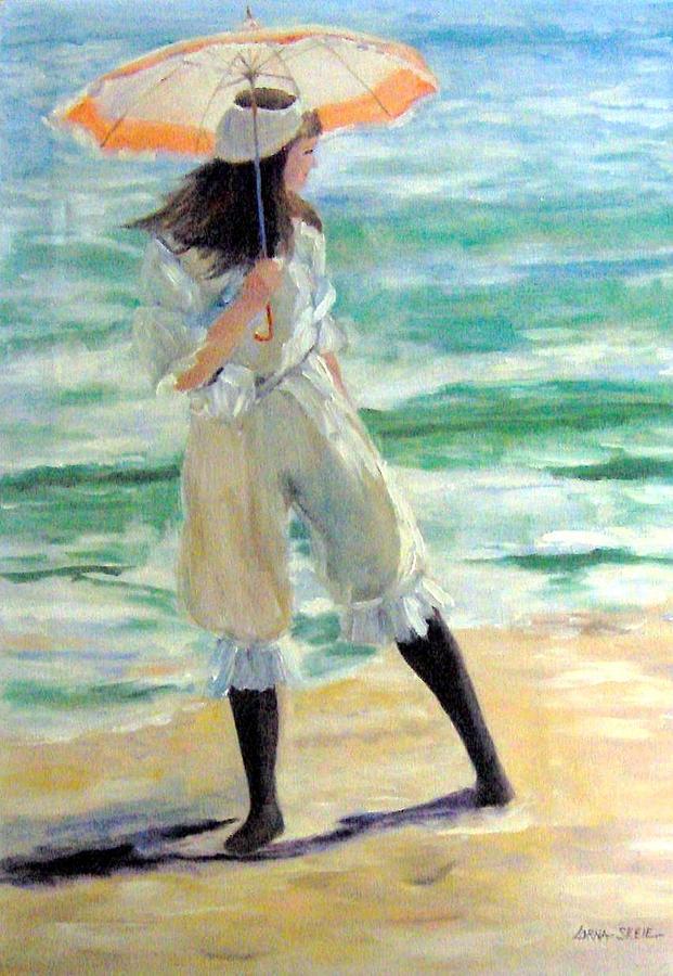 People Painting - Malibu Girl by Lorna Skeie