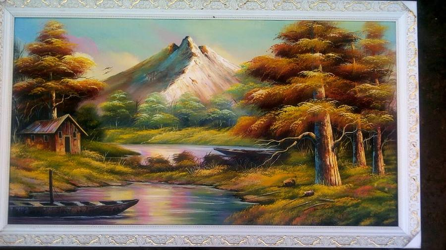 Malibu Hill Painting by Doyin Johnson