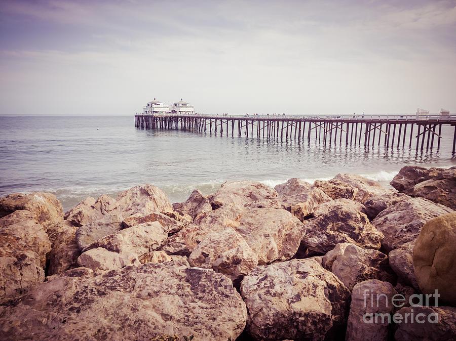 Malibu Pier Retro Picture In Malibu California Photograph