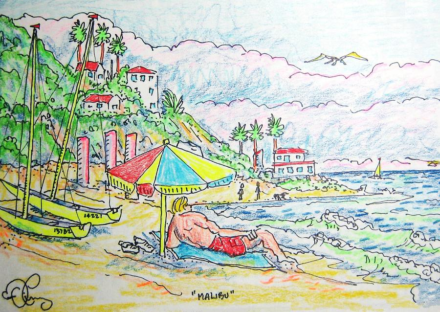 Beach Painting - Malibu by Robert Findley