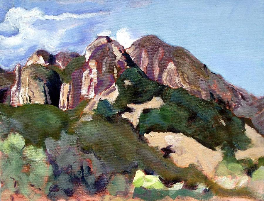 Landscape Painting - Malibu State Park by Richard  Willson