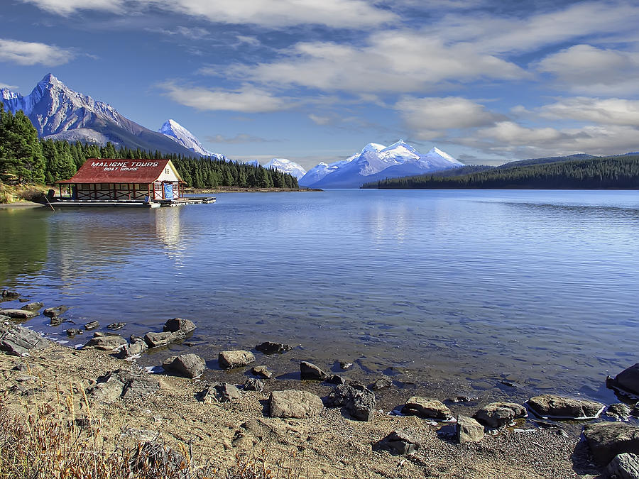 Maligne Photograph - Maligne Lake -- Jasper Alberta Canada by Daniel Hagerman