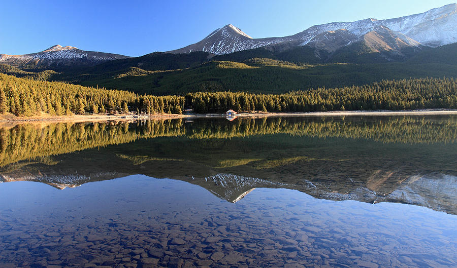 Jasper Photograph - Maligne Lake Jasper National Park Alberta Canada by Pierre Leclerc Photography