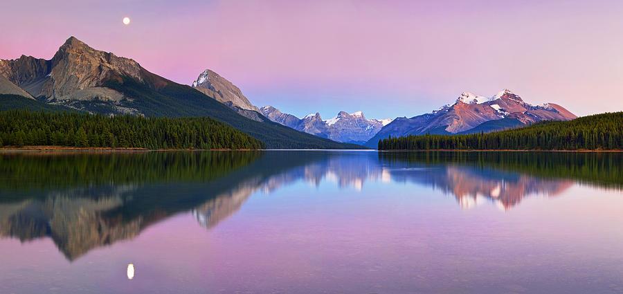 Landscape Photograph - Maligne Lake by Yan Zhang