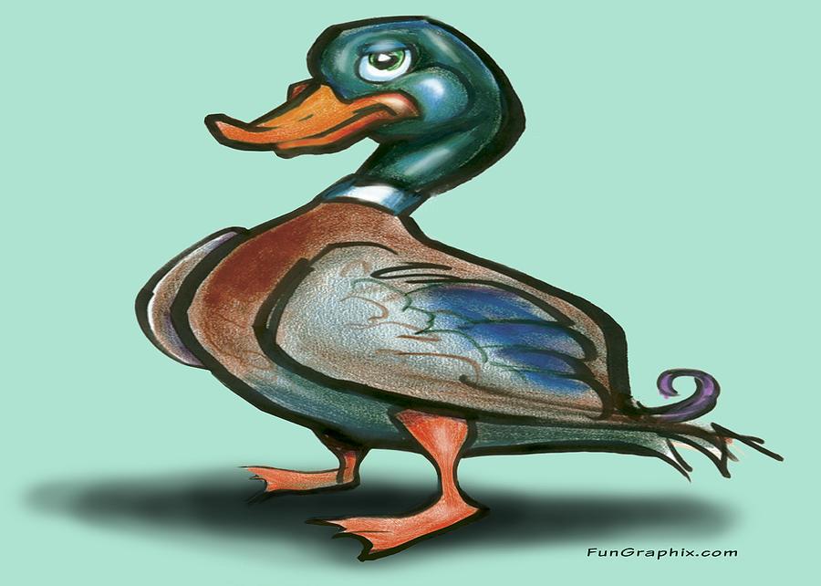 Duck Digital Art - Mallard Duck by Kevin Middleton