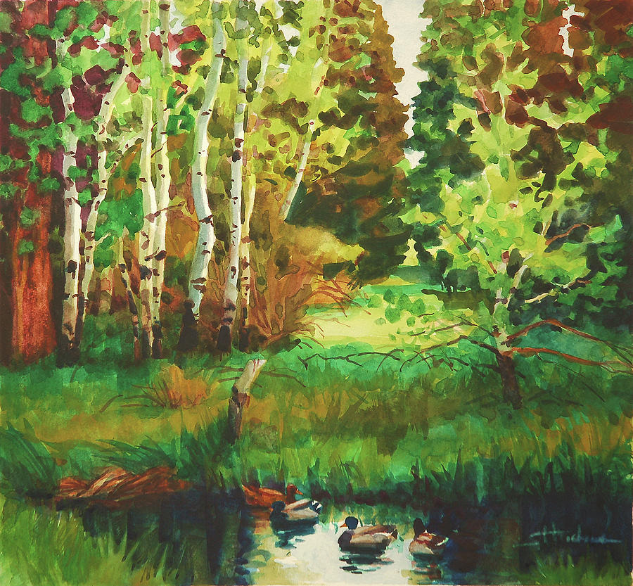 Country Painting - Mallard Grove by Steve Henderson