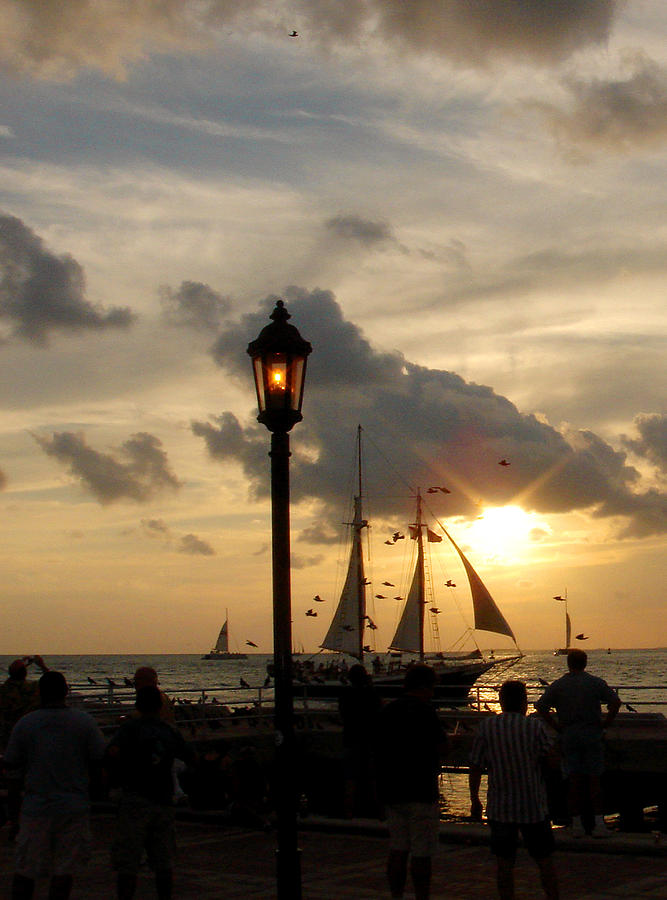 Mallory Square Photograph - Mallory Square Key West by Susanne Van Hulst
