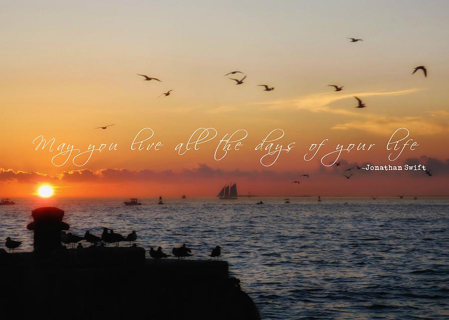 Key Photograph - Mallory Square Sunset Quote by JAMART Photography