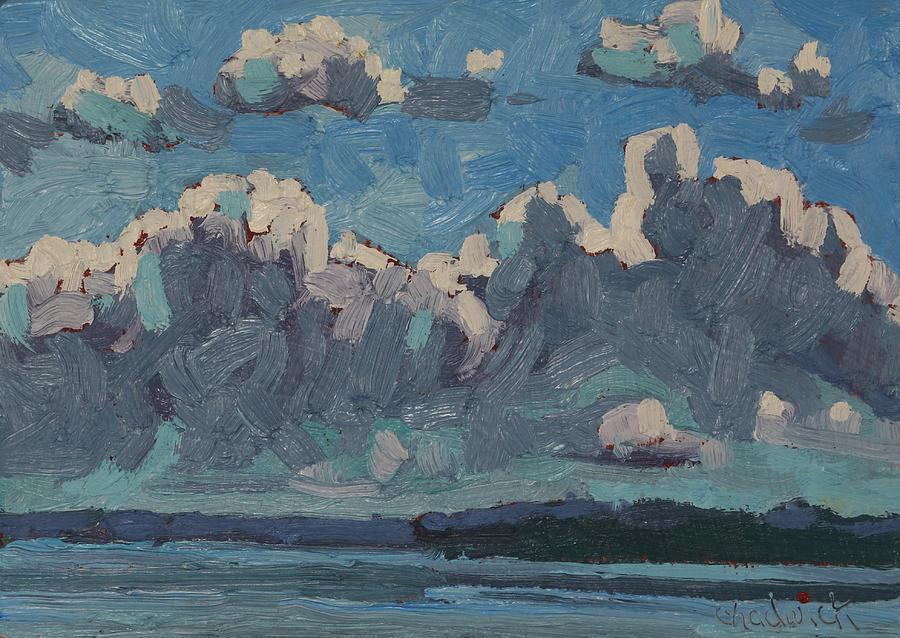 May Painting - Mallorytown Landing Cumulus by Phil Chadwick