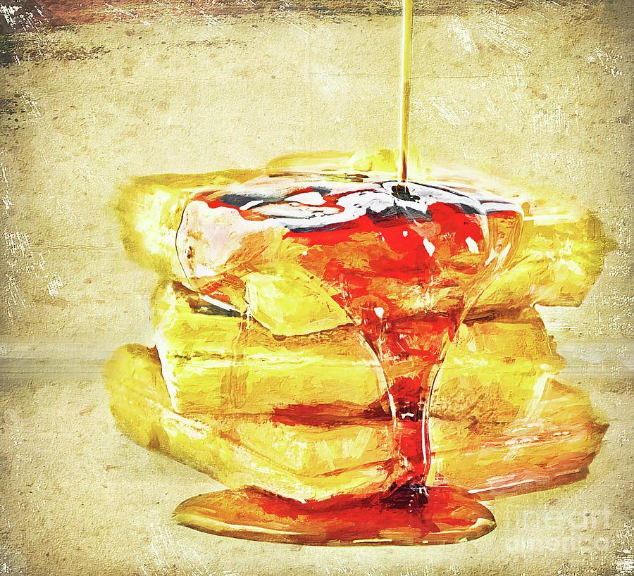 Waffles Digital Art - Malt Waffles by Ulanawa Foote