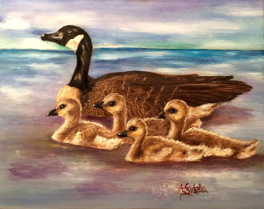 Mama and Ducklings by Annamarie Sidella-Felts