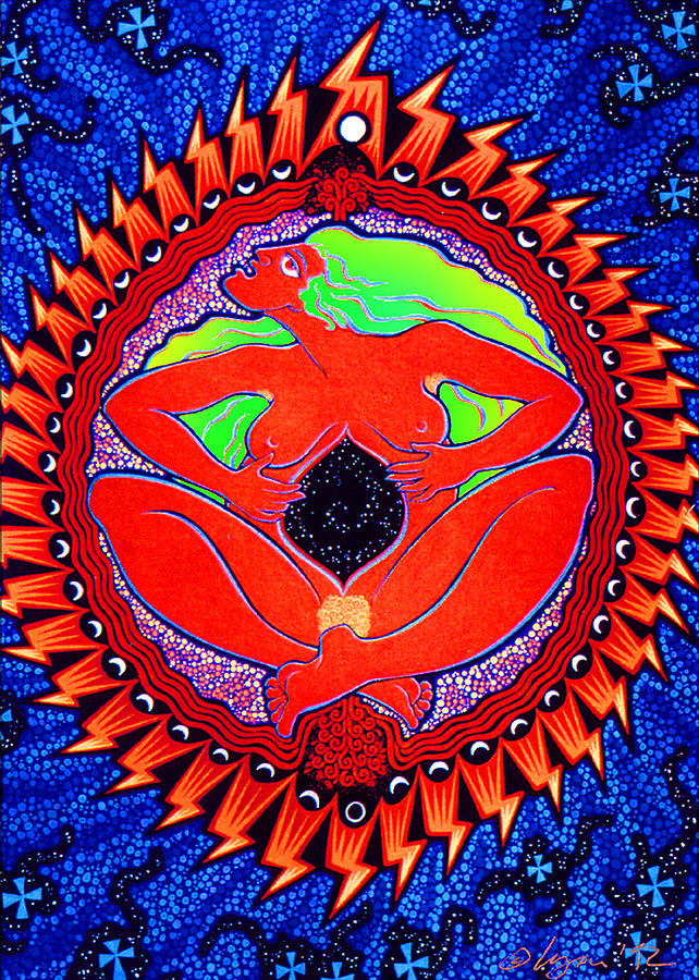Whimsical Painting - Mama Cosmos by Angela Treat Lyon