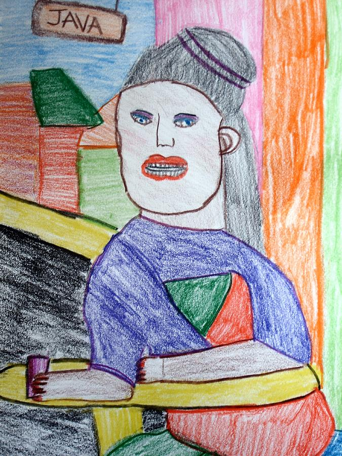 Mother Drawing - Mama Java by Annie Dameron