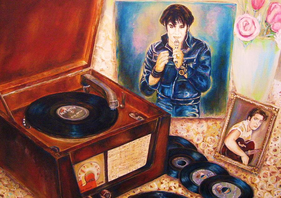 Elvis Painting - Mama Loved The Roses by Carole Spandau