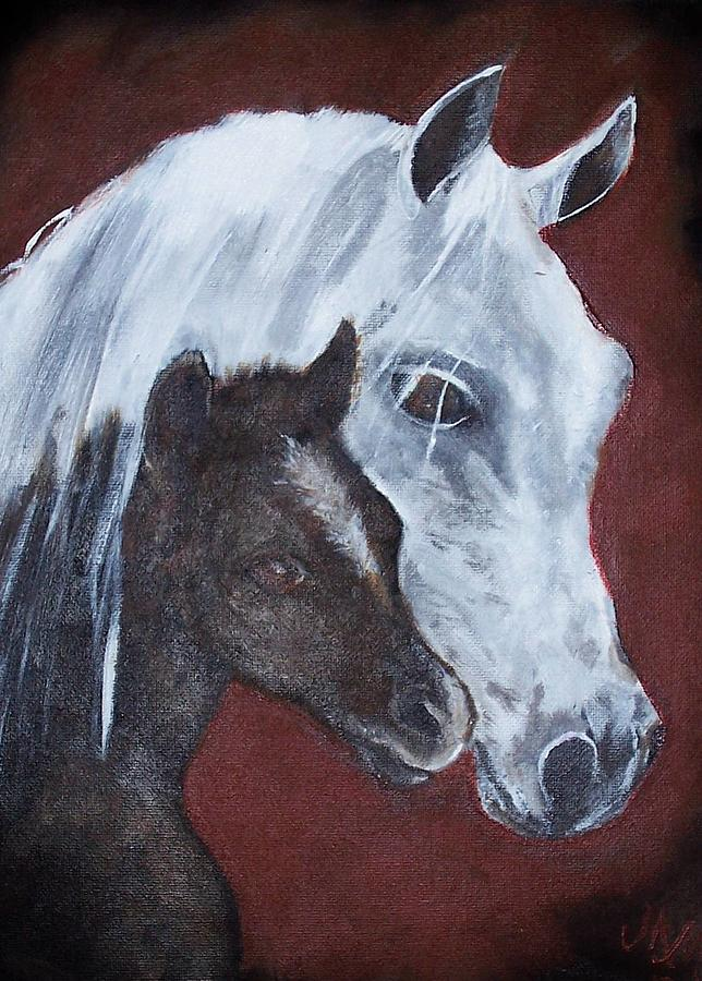 Horse Painting - Mama by Martha Mullins