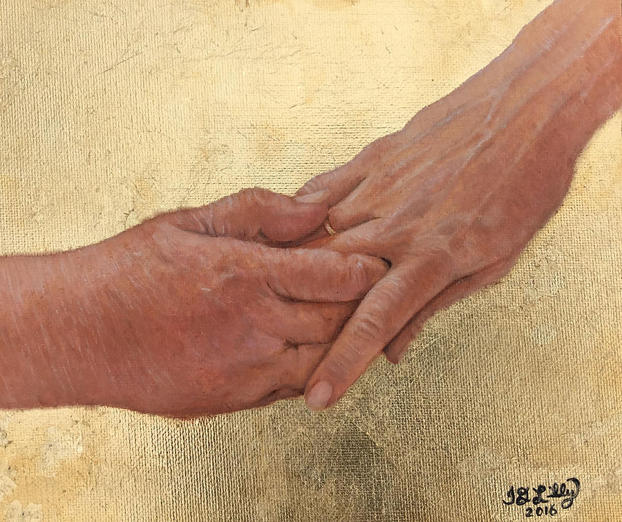 Photo Stream Painting - Mamas Hand by JD Lilly