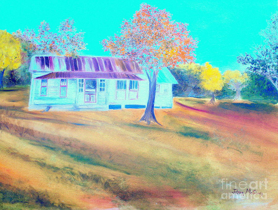 Old House Painting - Mamas House In Arkansas by Jo Anna McGinnis