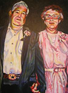 Grandparents Painting - Mamaw And Papaw by C D  Collins