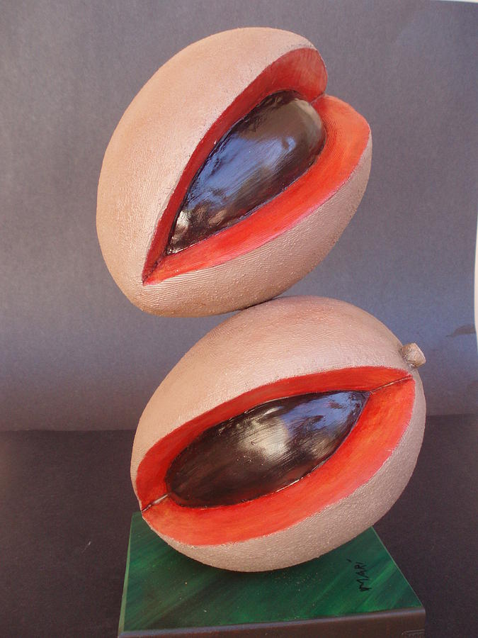 Tropical Fruits Sculpture - Mameyes Gimnastas by MARI Sanchez