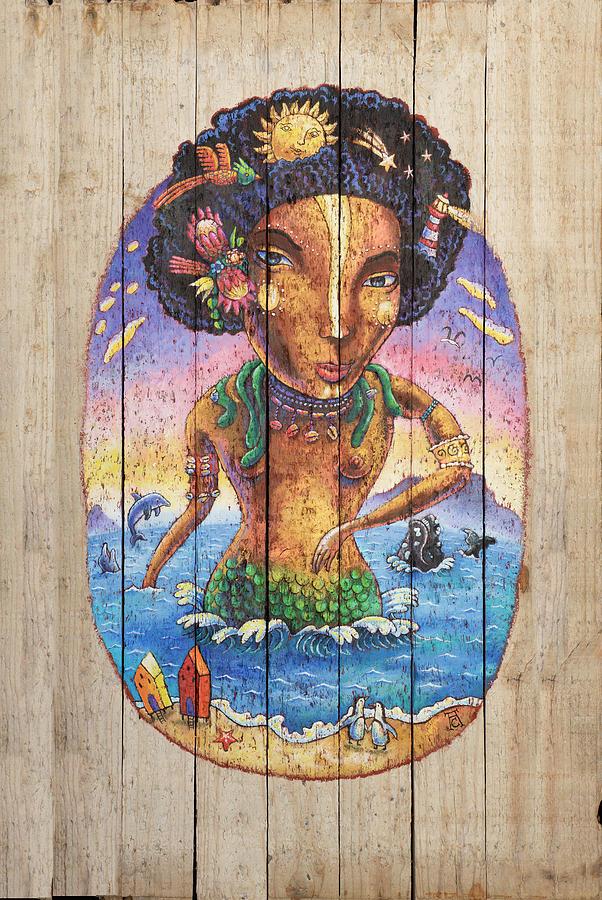 Mermaid Painting - Mami-wata Of Muizenberg by Adam Carnegie