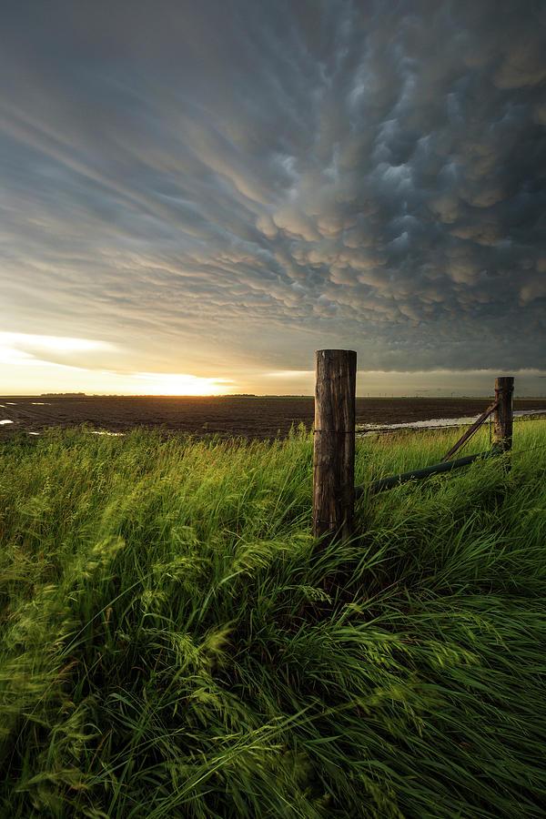 Mammatus Photograph - Mammatus Sunset by Aaron J Groen