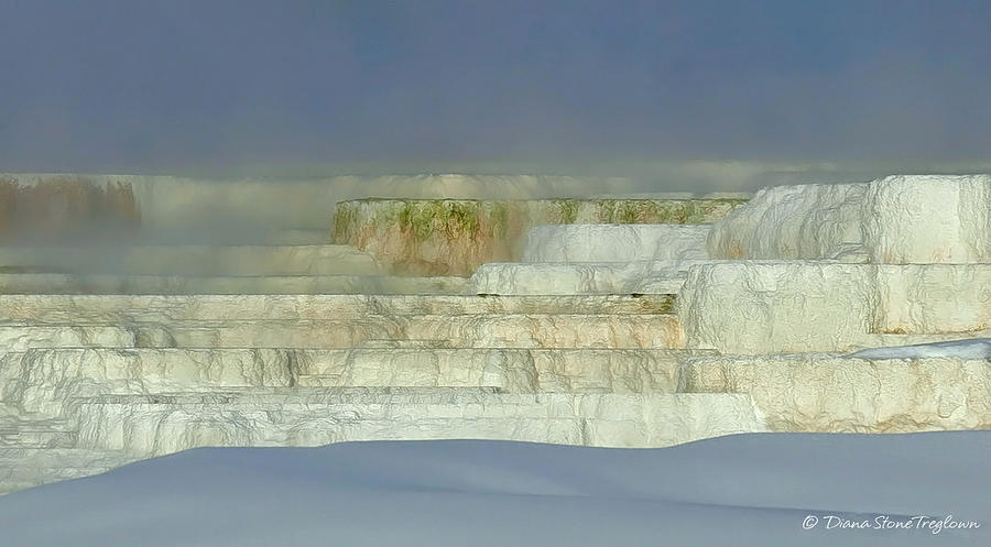 Yellowstone Photograph - Mammoth Steppes by Diana Stone Treglown