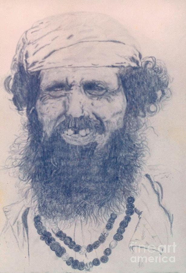 Pencil Portrait Drawing - Man From Madigascar by Ron Bissett