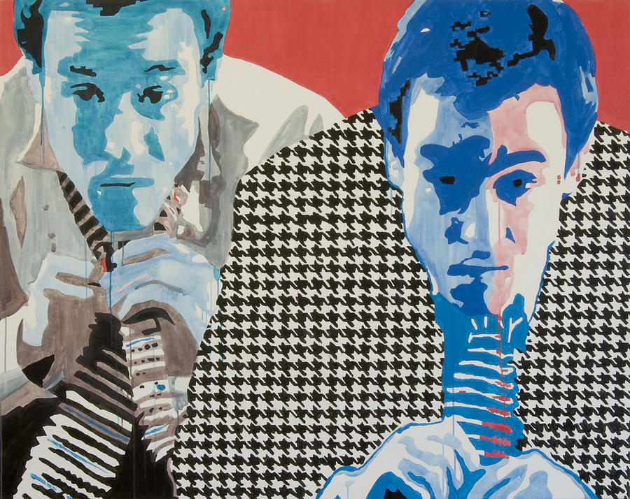Portrait Painting - Man In A Houndstooth Suit by Pete Nawara