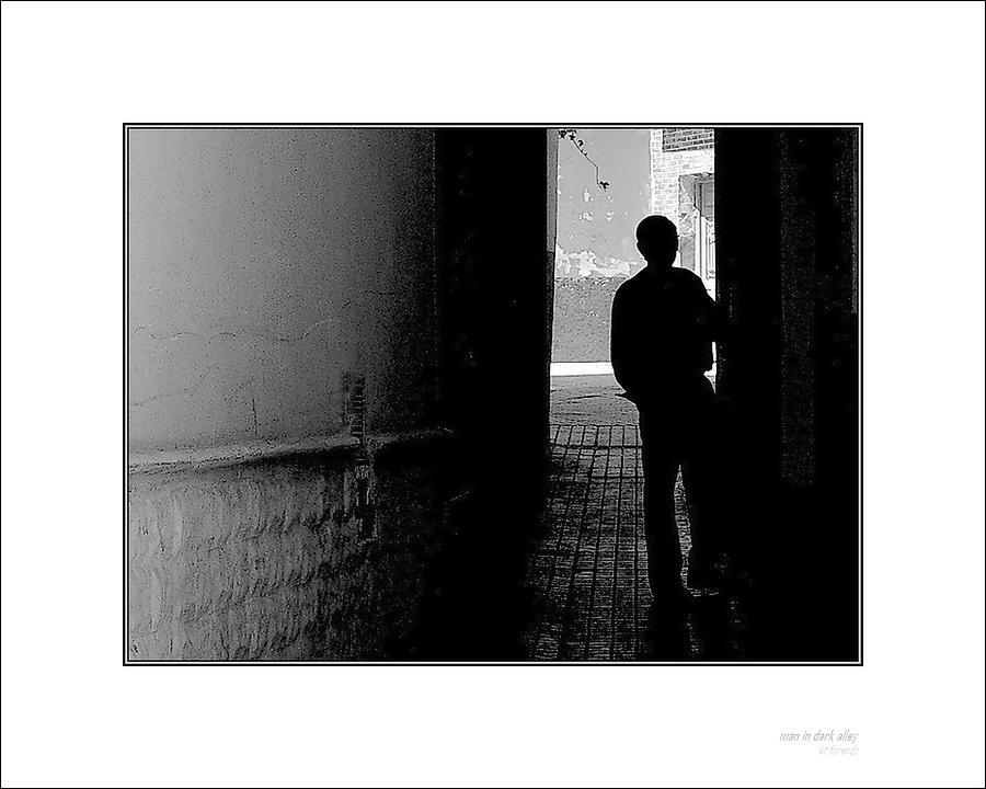 Man In Dark Alley Photograph by Kit Florendo