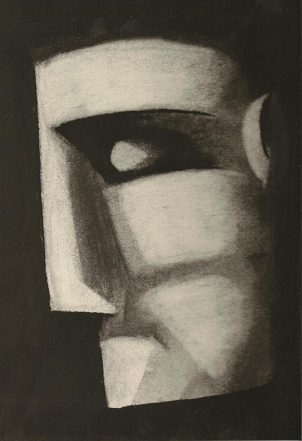 Charcoal Drawing - Man In The Closet by Rick Stoesz