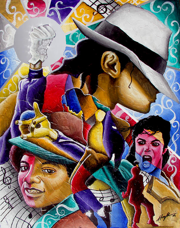 Michael Jackson Painting - Man In The Mirror by Stacy V McClain