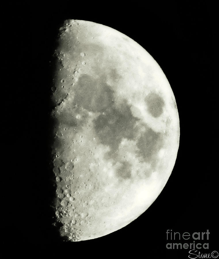 Lunar Photograph - Man In The Moon by September  Stone