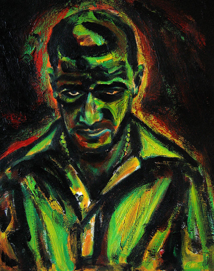Man In Yellow Painting by Daniel Petrov