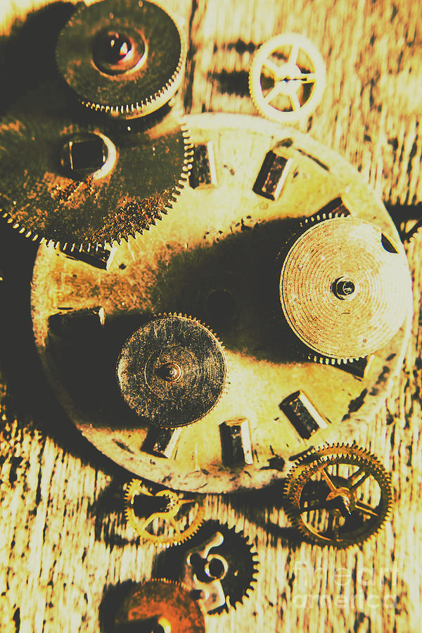 Parts Photograph - Man Made Time by Jorgo Photography - Wall Art Gallery